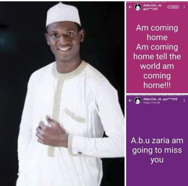"Image result for ""I'm coming home"" – Fresh graduate of ABU writes before dying in accident on his way home"