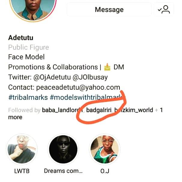 Nigerian model with tribal marks