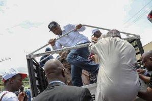Saraki leads PDP protest