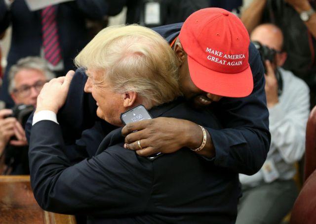 Kanye West meets President Trump