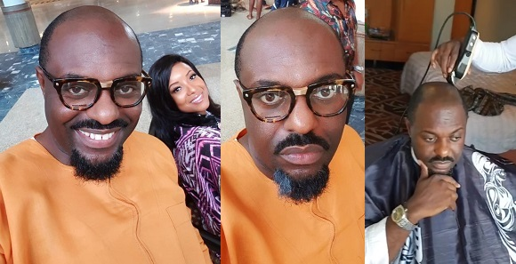 Image result for Actor Jim Iyke goes bald for a movie role By Daniel O. - November 13, 2018 0