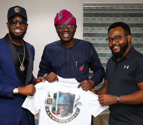 D'banj Pay Courtesy Visit