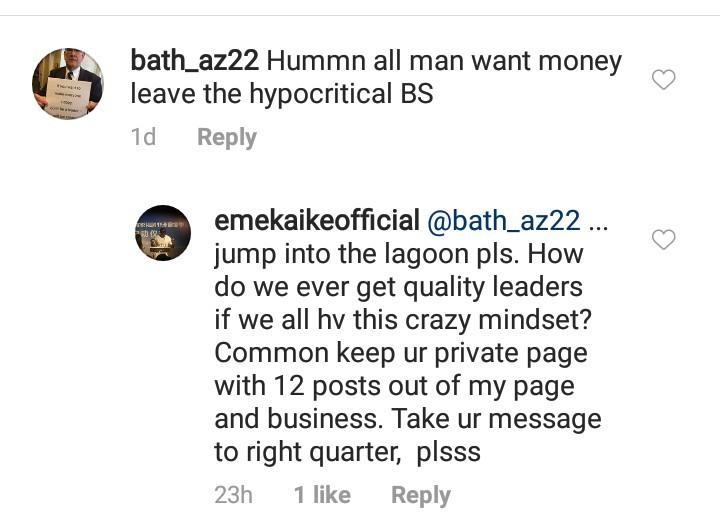 See followers reactions to Emeka Ike