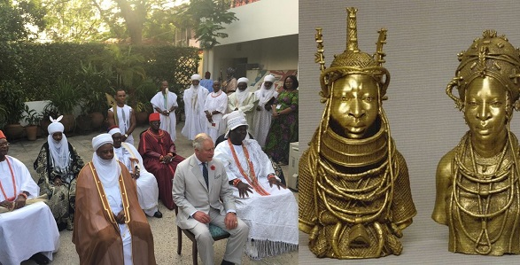 "Image result for ""Return our stolen artifacts"" – Oba of Benin tells Prince Charles in Nigeria."