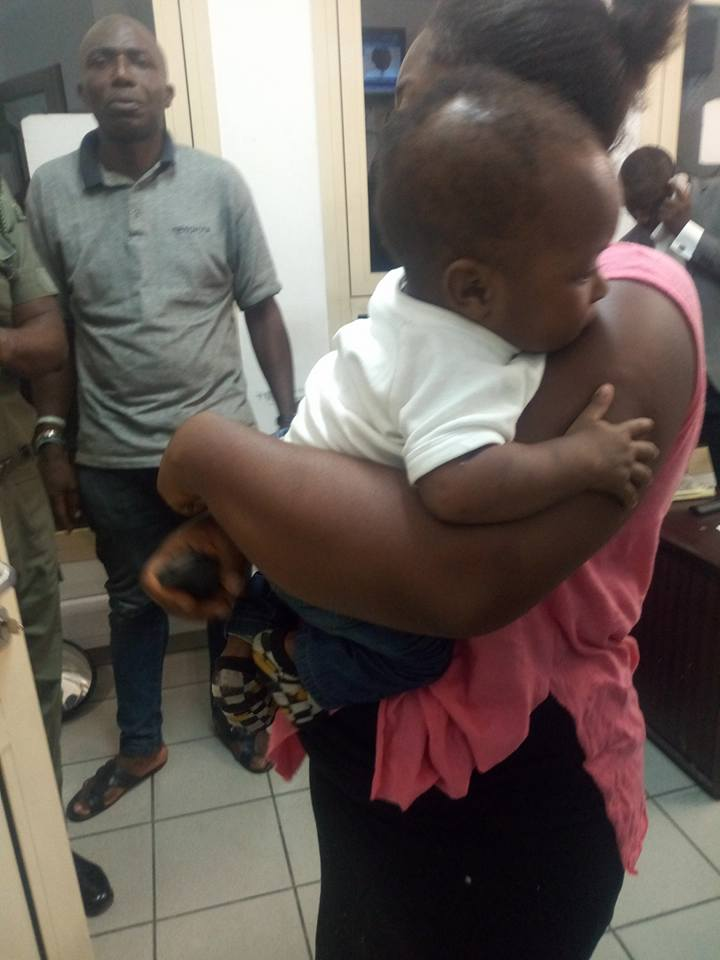 Lady who stole 7 months old baby in Port-Harcourt nabbed; child recovered (Photos)