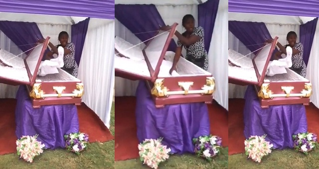 Image result for Nigerian Man busted for burying a wood in place of his brother (Video)