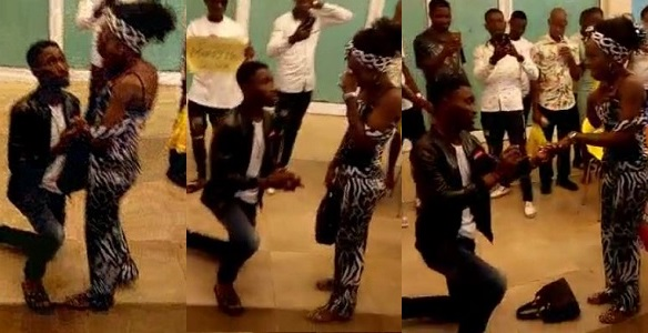 Image result for Nigerian man humiliates girlfriend publicly with a fake marriage proposal at Shoprite (video)