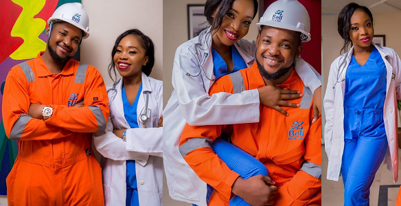 Beautiful pre-wedding photos of an engineer and his doctor bride-to-be.