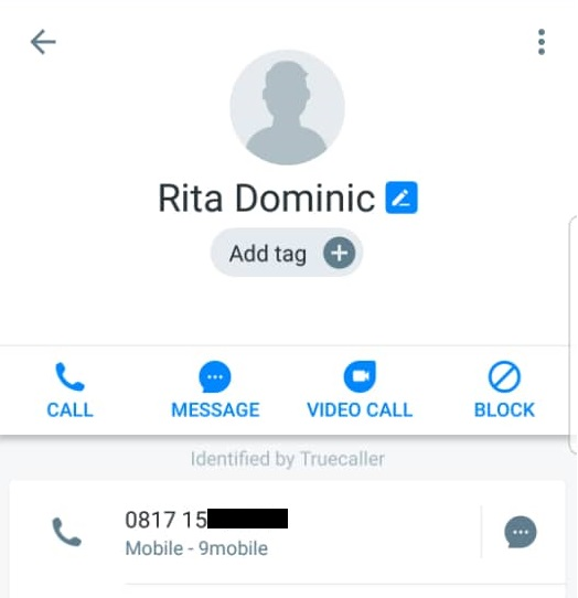 rita dominic phone number, rita dominic's phone number
