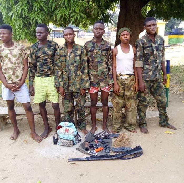 Robbers dressed in military uniform, arrested in Benue (Photos)