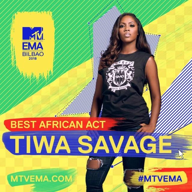 Tiwa Savage wins