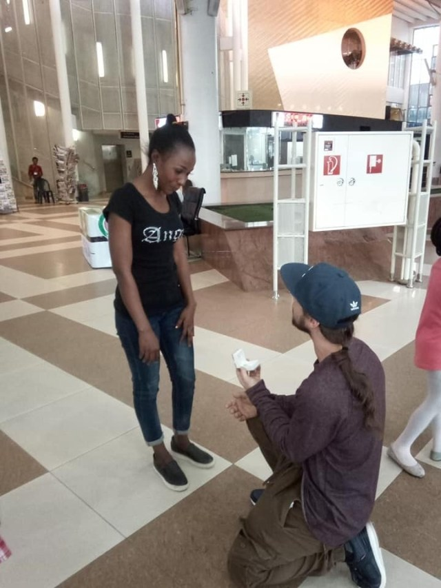 Pre-wedding photos of American man who proposed to his 'online Nigerian girlfriend' in Abuja after meeting her for the first time
