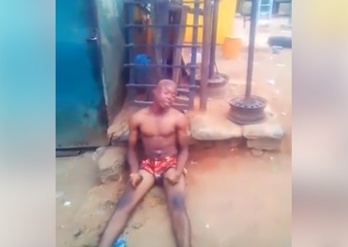 Suspected 'Yahoo Boy' Runs Mad After His Father's Death In Benin