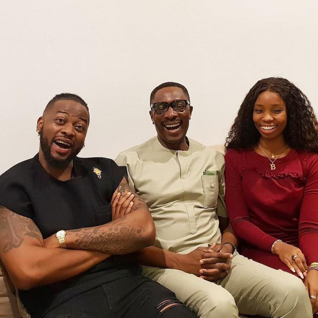 Marriage counselling? Bambam and Teddy A meet popular Lagos pastor, Tony Rapu