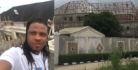 Image result for African China replies Nigerian who asked him to stop showing off his house that is still under construction.