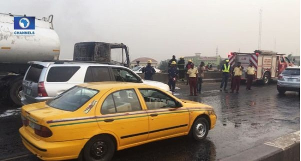 Image result for Many feared dead as tanker explodes in Maryland, Lagos