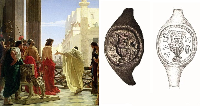 Image result for New evidence proves the bible is real as Pontius Pilate's ring is found in Israel (photos)