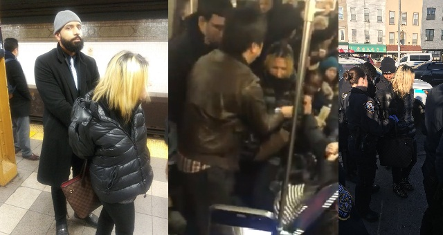 Racist white woman attacks Chinese woman on a train (Video) - YabaLeftOnline