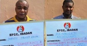 EFCC arraigns two suspected yahoo boys
