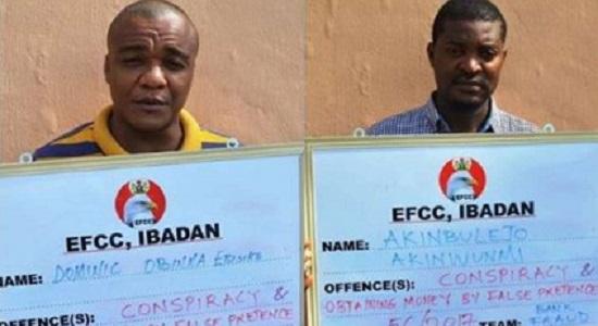 EFCC arraigns two suspected yahoo boys