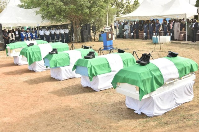 Funeral of the 5 Nigeria Air Force personnel
