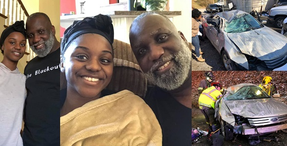 Image result for A pastor has taken to his Facebook page to give God the glory and share his testimony after his daughter miraculously survived a ghastly accident that could have made her lose her life.