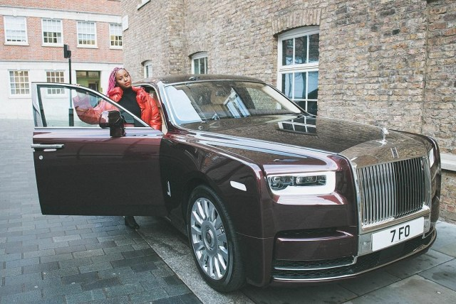 DJ Cuppy Rolls Royce Phantom