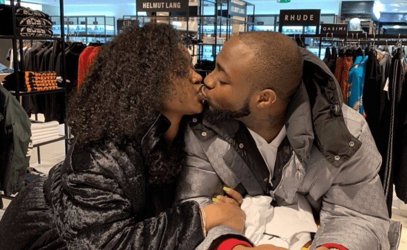 Davido and Chioma share passionate kiss as they reunite in London