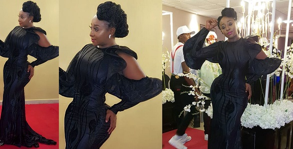 Image result for Surgery gone wrong! Ini Edo's new waist causes stir among her followers on Instagram