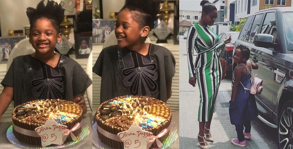 Image result for 2Face and Annie Idibia celebrate daughter, Olivia as she turns 5 (Photos)