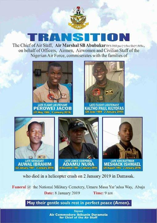 Nigerian Air Force announces
