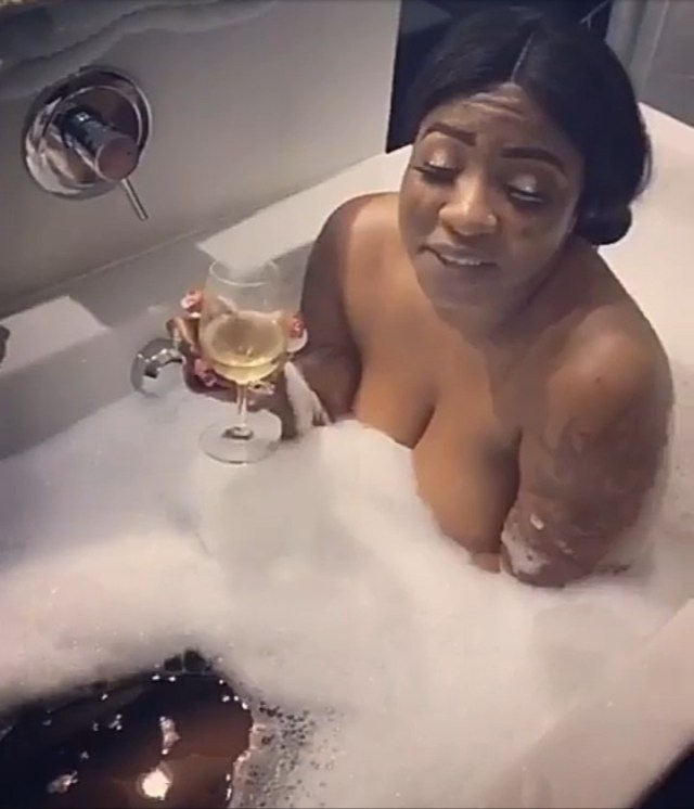 Anita Joseph shares naughty clip of herself in a bathtub with a man (Video)