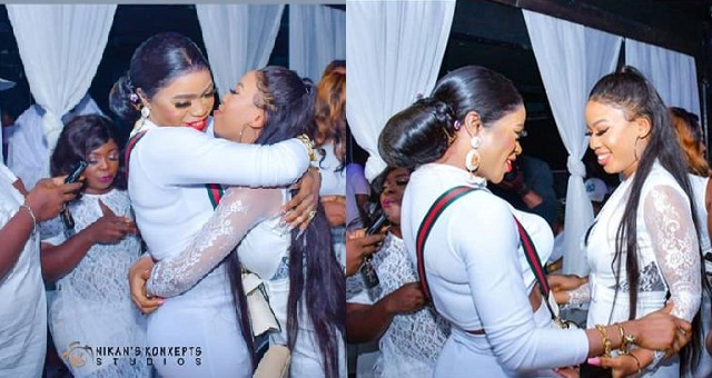 Image result for Bobrisky and Nina Share a kiss as they resolve their dispute.