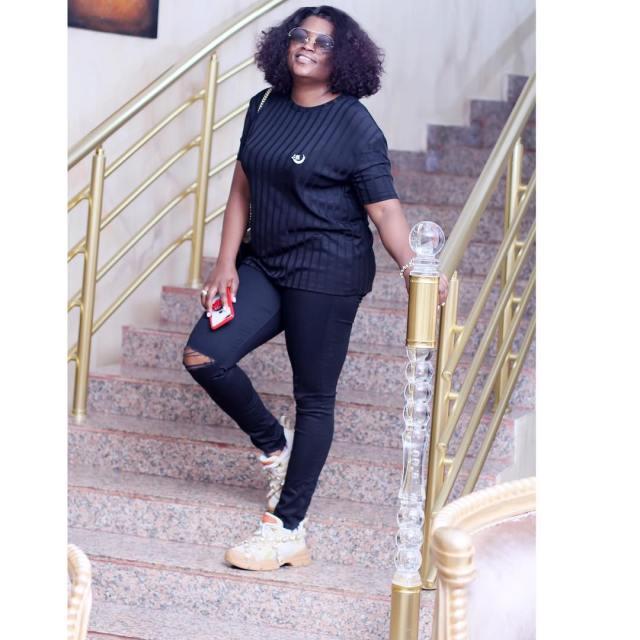 Funke Akindele Bello shows off her post-baby body