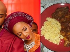 Banky W makes mouth watering meal for Adesua