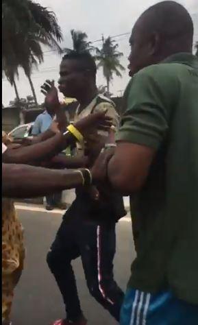 Soldier assaults Keke rider