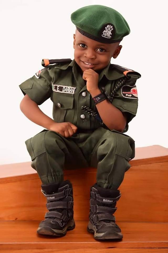Little Boy stuns with his Police-themed Birthday Photos