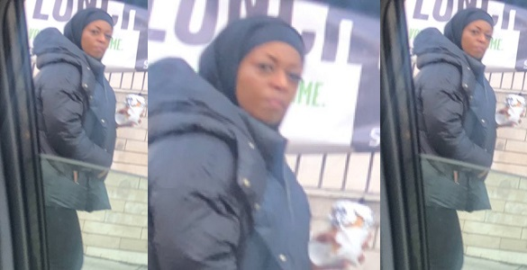 """Image result for Nigerian man in UK shares a photo of """"Diezani"""" walking on the streets on London"""