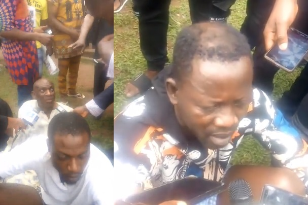 Image result for Police parade men who inserted pepper into Lady's part (video)