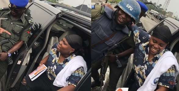"Image result for Police confront Singer, Teni for saying ""she will slap police"" in her song (Video)"