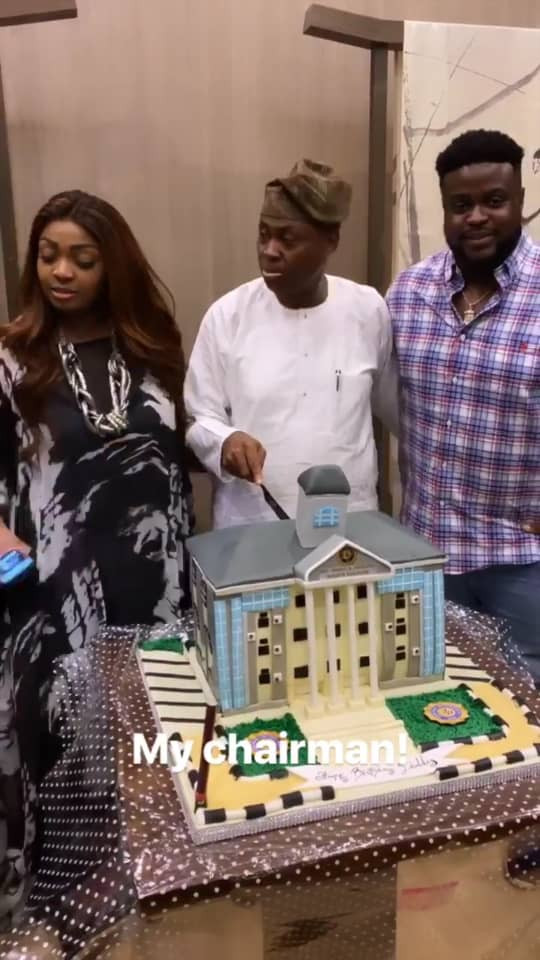 Photos from Davido's dad's birthday dinner party