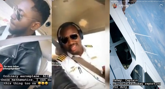 Image result for Pilot Miracle Flies Bestfriend, Tobi Bakre Around Florida, US (Video)