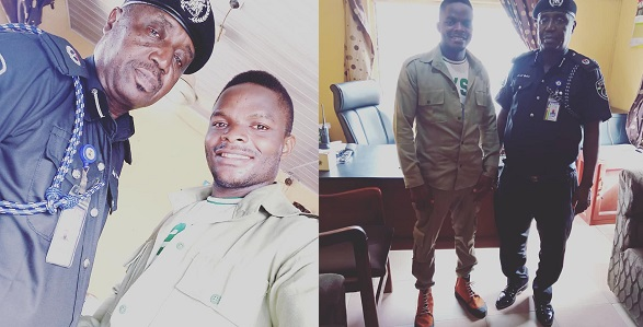 Former corps member celebrates policeman who saved him from his oppressor while serving in Edo state - YabaLeftOnline