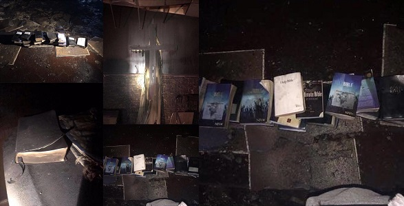 Image result for Fire razes church completely, but not a single Bible was touched. (PHOTOS)
