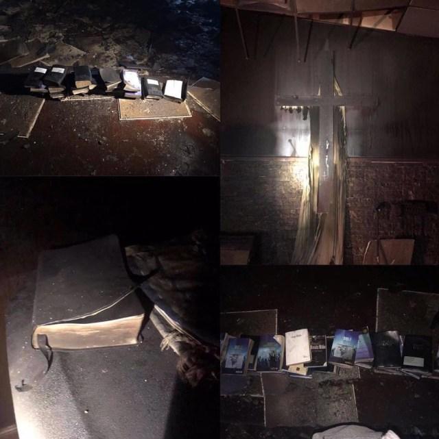 Fire razes church completely