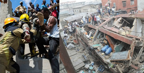 Image result for Man loses three kids in collapsed Lagos school building