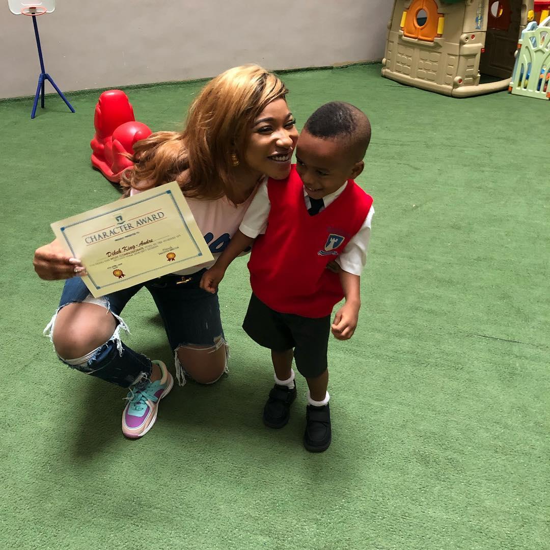 Tonto Dikeh's son's award
