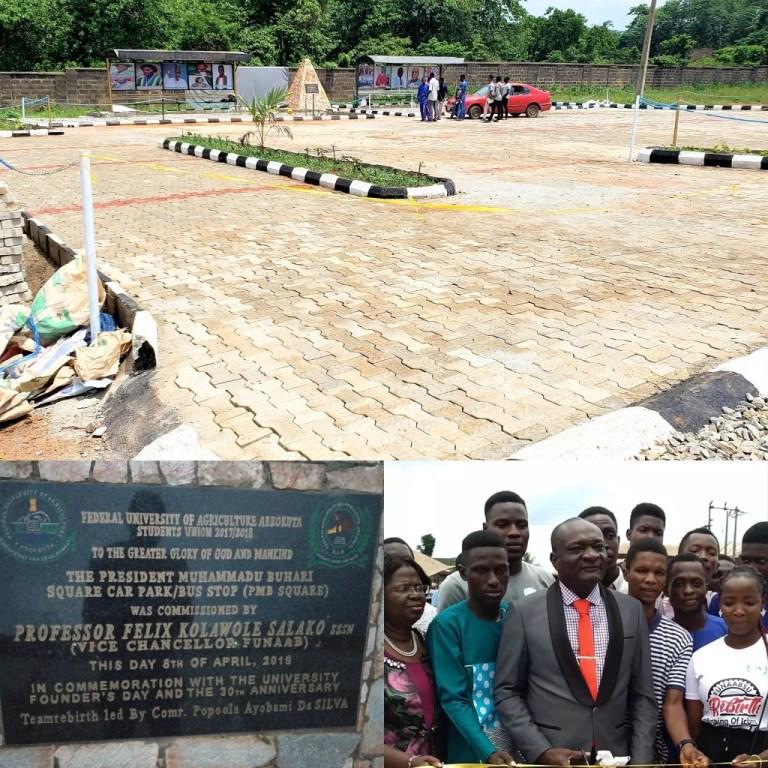 FUNAAB students build N5 million car park