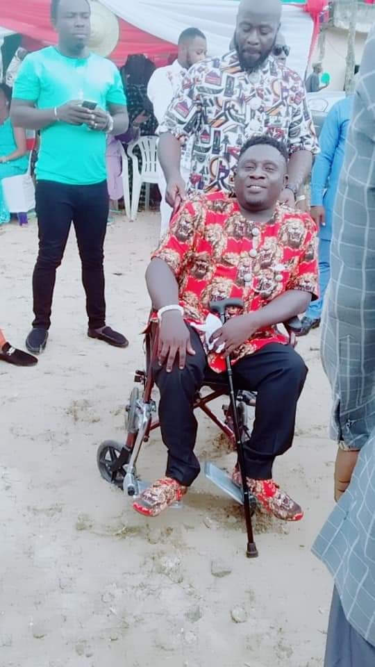 lady weds physically challenged man