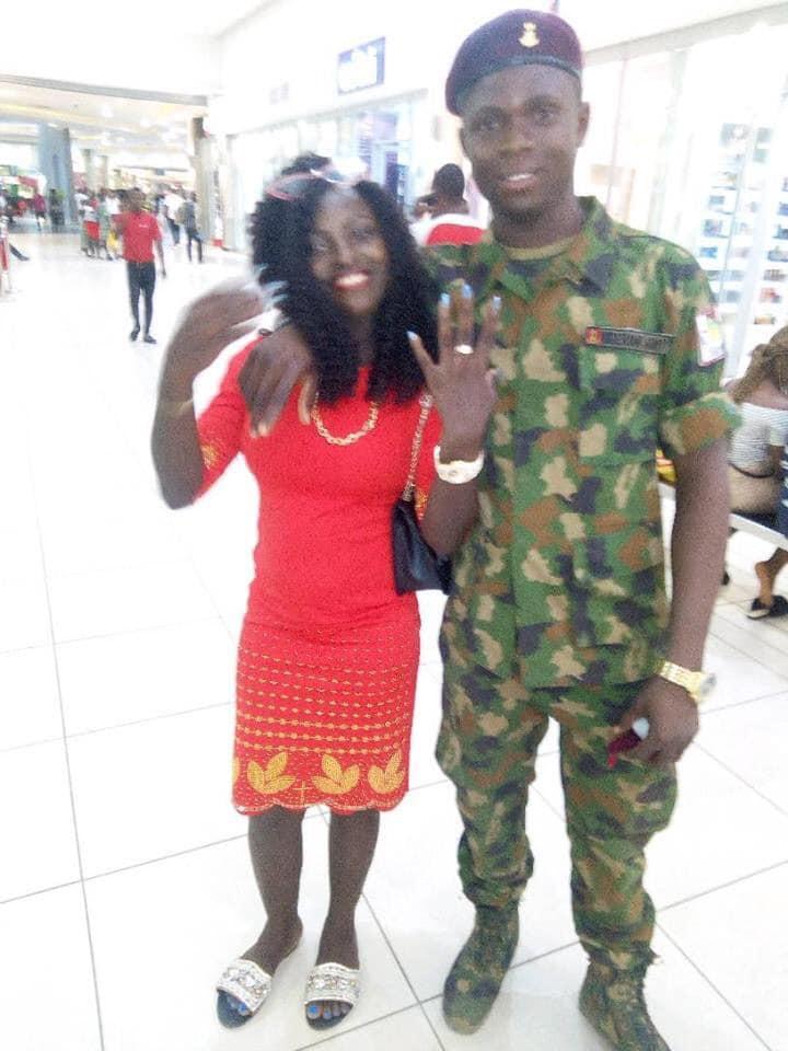 Nigerian soldier proposes